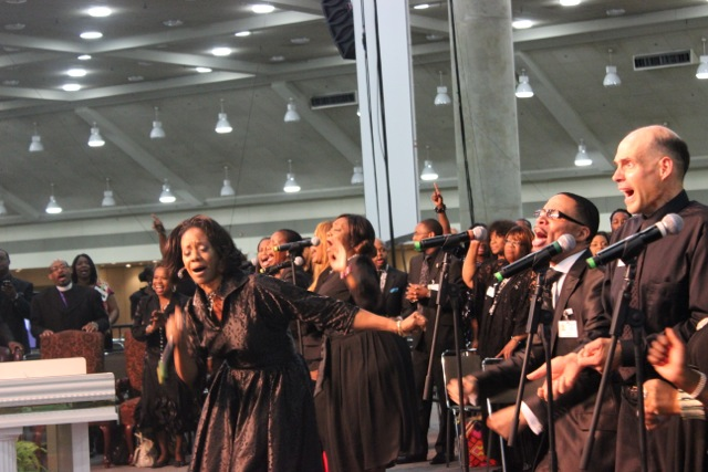 Dr. Judith C. McAllister at COGIC AIM Convention Late Night Musicals