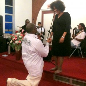 Rev. C. Barry Martin proposes to Sistah Peaches
