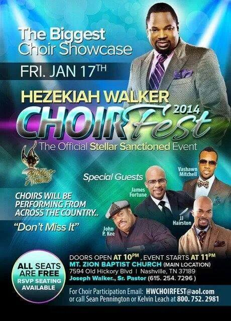 Hezekiah Walker Choirfest  is a highly anticipated event during the Stellar Awards Weekend Activities