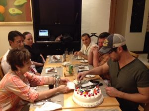 Jason Crabb enjoys birthday with friends